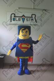 Wholesale Superman Robot - 3D hari super man mascot costumes hot sale superman costumes new cartoon export high quality robots series costumes EVA head with fan