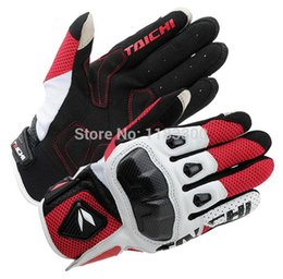 Wholesale Armed Motorcycle - Wholesale-New Japan RS Taichi gloves Men's Driving Pilot Racing Motorcycle gloves Motorbike Riding Cycling Armed Mesh leather gloves