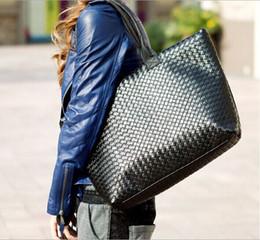 Wholesale Korean Style Drop Shipping - Korean Style Tote fashion ladies' handbag Shoulder bag PU leather Handbag woven Multi color 15% off drop shipping