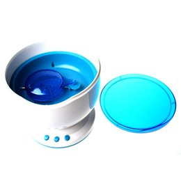 Wholesale Lamp Sea - Wholesale-Night Light Projector Ocean Blue Sea Waves Projection Lamp With Mini Speaker