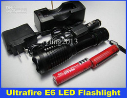 Wholesale Cheap Cree Flashlights - 2015 Cheap Ultrafire 1800 Lumens Zoomable LED Flashlight CREE XM-L T6 LED Torch Light & 2pcs 18650 Battery & Car Charger & DHL Free Delivery