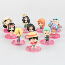 Wholesale Chopper Action Figure - Free Shipping One Piece one Edition Chopper Luffy Nami Action Figures Zoro Sanji Franky Dolls PVC ACGN figure Garage Kit Toys Brinquedos