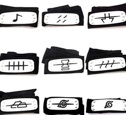 Wholesale Anime Costume Wholesalers - PrettyBaby ANIME Naruto Headband 95cm Leaf Village Logo Konoha Kakashi Akatsuki Members Cosplay Costume Accessories blue red black in stock