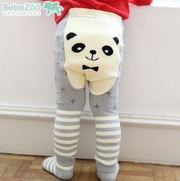 Wholesale Cute Girls Style - Autumn Cartoon baby Legging Korean Fashion Panda cotton Elastic PP pants cute Boys Girls Tights stripe Infant Leggings Kids Tights 5832