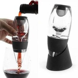 Wholesale Filter Red Wine - Red Wine Aerator Filter Magic Decanter Pourer Essential Aerating Air Hopper Xmas Gifts Red Wine Aerator CCA8381 24pcs