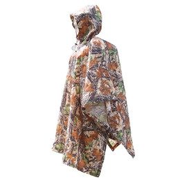 Wholesale Sports Poncho - Outdoor sports camouflage multi-functional raincoat jungle march poncho moisture camping canopy mat emergency rain wear for sale