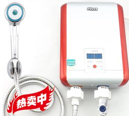 Wholesale Bathroom Electric Shower - 377 Electric Shower Set Heater Electric Water Heater 7kW Instant Tankless Bathroom Shower Water Heater For Kitchen Bathroom Warm water