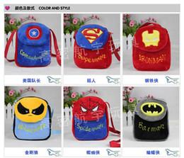 Wholesale Plush Avengers - Avengers bag cartoon plush bag 2015 New Avengers children's school bags backpack C001
