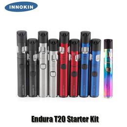 Wholesale Vaping Kits - Authentic Innokin Endura T20 Vaping Starter Kit 1000 1500mAh Battery 2ml Prism T20 Atomizer Tank 4 Colors