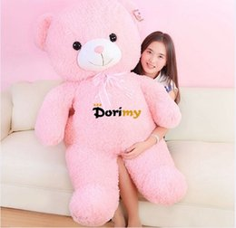 Wholesale Giant Teddy Bear For Free - Dorimytrader 43''   110cm Big Plush Soft Stuffed Giant Pink Teddy Bear Toy, Nice Birthday Gift For Babies, Free Shipping DY60060