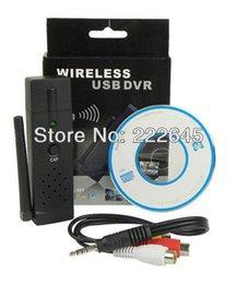 Wholesale Dvr Receiver 4ch - 4CH 2.4GHz Wireless USB DVR Camera Receiver Black