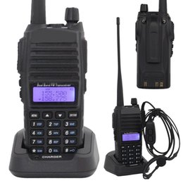 Wholesale Dual Band Walkie - Wholesale-Baofeng Walkie Talkie UV-82 136-174 & 400-452 MHz Dual Band Display 8W Earphone Dual Band