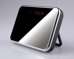 Wholesale Hidden Camera Clocks - Digital Mirror Table Alarm Clock Hidden camera with Motion Detection