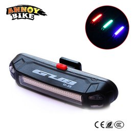 Wholesale Cycling Rear Rechargeable Light - 3 Color Bike Light Rear Light usb Rechargeable Bisiklet Aksesuar Waterproof Led Bicycle Light Cycling Safty Bicycle Accessories