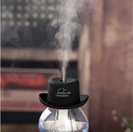 Wholesale Cap Hat Air - 200pcs lot 5 Colors Mini Cowboy Hat Cap USB Humidifier Air Purifier Aroma Diffuser for Office Home or Car By DHL Free shipping