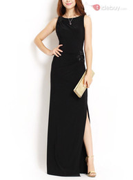 Wholesale Lycra Fabric Dresses - The new spring and summer 2016 lycra fabric, cultivate one's morality design is neat, evening dress! Fashionable and sexy style, product spe