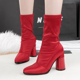 Wholesale Short Sexy Slip Dresses - Sexy Clubwear Lady Short Boot Pumps Dress Shoes Women High Heels Festival Party Wedding Shoes Heels Formal Pumps Ankle Boots GWS290