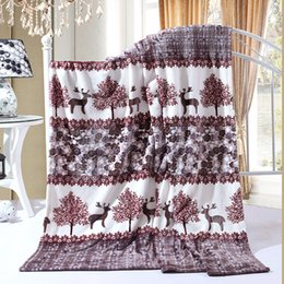 Wholesale Flannel Bedspread - Wholesale- Pollen world bedspread blanket 120x200cm High Density Super Soft Flannel Blanket to on for the sofa Bed Car Portable Plaids