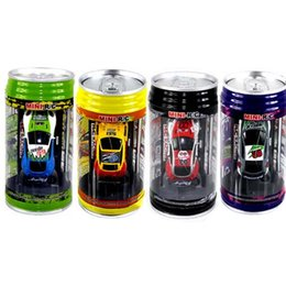 Wholesale Electric Toy Car Racing - 2016 new 4CH RC car New Coke Can Mini speed RC Radio Remote Control Micro Racing cars Toy Gifts Promotion(xinhenyue)