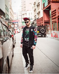 Wholesale Fat Clothes - 2017 Winter Sports And Leisure Clothing Brand Fat Men's Baseball Uniform Cardigan Coat