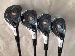 Wholesale golf clubs rescue - Golf clubs R15 Hybrid Rescues 17.19.21.24 loft R S Graphite shaft 4PCS R15 Golf Hybrids Rescue