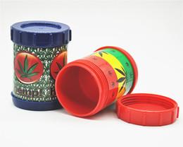 "Wholesale Can Safes - Smoking Tobacco Pollen Presser Shaker Pollen Sifter Box New Micro Mesh Stash Can Safe Shaker 4.5"" Silk Screen Color Random"