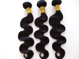 Wholesale Cheap 5a Peruvian Hair - 3pcs lot cheap 5A Brazilian Malaysian Peruvian virgin human hair extensions body wave hair weave bundles double weft unprocessed hair