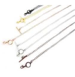 Wholesale Stainless Steel Living Lockets - Suitable for pendant Stainless steel OT toggle chain Fashion 20'' 5mm necklace for floating charm living locket