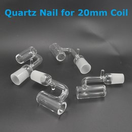 Wholesale Heater Cheap - Cheap Quartz Nail with Cap for 20mm Heater Coil for Fancier Electric Dab Nails for 18mm Glass Bong Water Piper