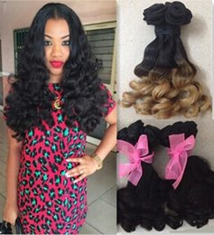 Wholesale Spiral Curls Hair Extensions - 7A aunty funmi hair Spiral Curls brazilian virgin hair loose wave wavy natural black 1B 27 color human hair extensions