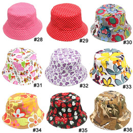 Wholesale Fedora Styles - TOP 2015 baby Boys girls Hat 36 styles choose freely flower smile animal camouflage strawberry casual Child Hat kids Caps 10pcs lot