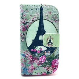Wholesale Duos S 7562 - Eiffel Towe Leather Cover for Samsung Galaxy S Duos GT S7562 7562 Case Flip Luxury Card Holder Wallet Phone Bag smartphone Protector Coque