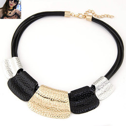 Wholesale Chunky Bib Necklaces - Wholesale-Hot Sale Maxi Necklace Colar Big Brand Collares Bib Choker Chunky Woman Necklace Vintage Statement Necklace Jewelry Wholesale