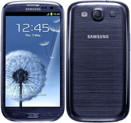 Wholesale S3 Cell Phone - Unlocked Original Samsung Galaxy S3 i9300 i9305 GSM 3G Quad Core 16GB Storage 4.8Inch 8MP Camera Cell Phones