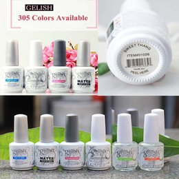 Wholesale Gelish Polish Colors - 305 COLORS Harmony Gelish Nail Polish Gel Soak off LED UV STRUCTURE TOP it off and Foundation nail art Gel Polish frence nails