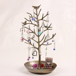 Wholesale Jewelry Floor Displays - Vintage Tree shape earrings jewelry rack shelf display hanging ornaments