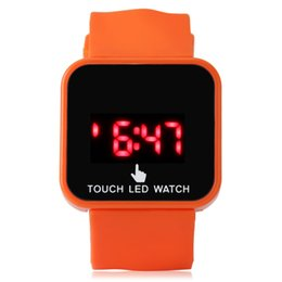 Wholesale Silicone Jelly Belts - 2015 hot sale led touch Watch digital LED Unisex rubber jelly Silicone watch Fashion sport watch
