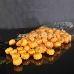 Wholesale Artificial Pumpkins - 200PCS Mini Artificial Fruits Environmental Pumpkin Simulation Fruit For Kids Children room Home Wedding Halloween Decoration