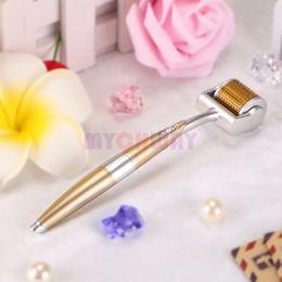Wholesale Skin Roller 192 - Titanium 192 Needle Micro Needle Derma Roller Scars Removal Anti-age Skin Care skin rejuvenation beauty massager