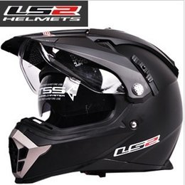 Wholesale Ls2 Mx455 - Wholesale-Free Shipping 1 Ps LS2 MX455 Motorcycle Helmet Dual lens Fog UV protection Motocross Helmet (Size Adjustment Comfort )