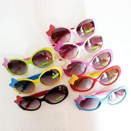 Wholesale Toddlers Glasses Frames - Sun Glasses for Toddlers Kids Plastic Frame Sunglasses Girls Baby Bowknot Cat Eye Shades Goggles Eyewear UV400 Freeshipping