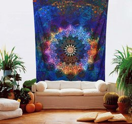 Wholesale Weaved Mat - Indian Mandala Tapestry Hippie Home Decorative Wall Hanging Tapestries Boho Beach Towel Thin Yoga Mat Bedspread Table Cloth 200x148cm