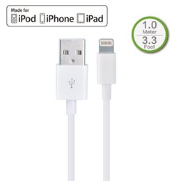 Wholesale White Ipad Mini - MFI Certified 1M 3.3ft Lightning 8P to USB Sync & Charger Cable for Apple iPhone 5 5s 5c 6 Plus,iPad 4 Air Mini 2 100cm