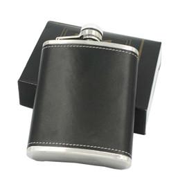 vasi all'aperto Sconti Flacone in pelle Whisky Flagon Leak Proof 6oz in acciaio inox Boccette per esterni da giardino portatile 7 35ls C R