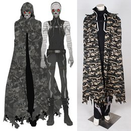 Wholesale Carnival Costumes Online - 2015 Sword Art Online II Costume Cosplay For Death Gun Cloak cosplay Full Suit Custom Made Any Size drop shipping