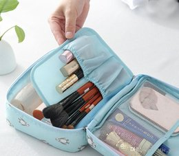 Wholesale Portable Make Up Cases - Portable travel makeup pouch make up handbags cosmetic bag case women storage bags hanging toiletries kit jewelry case