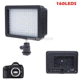 160 LED Video Camera Light Lampada fotografica 12W 1280LM dimmerabile per videocamera Canon Nikon DSLR cheap yongnuo led light da yongnuo ha condotto la luce fornitori
