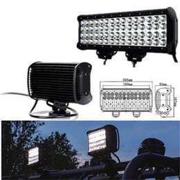 Wholesale Offroad Spot Lights - 12inch 144W Quad Row Cree LED Work Light Bar Spot Flood Combo Beam Driving Light for Trucks 4WD Offroad UTE Light Boat