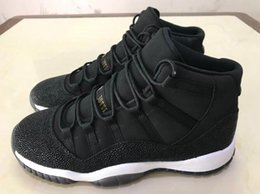 Wholesale Womens Leather Shoes Sale - Mens And Womens Retro 11 Heiress Black Stingray Basketball Shoes For Sale