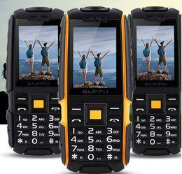 Wholesale Three Sim Cards - SUPPU 6000 mAh X6 waterproof Phone three SIM Card CDMA GSM super-long standby Power bank old man children phone xiaocai x6
